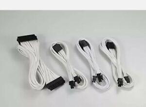 Phanteks 24 Pin/ 8pin 4+4 M/B 8pin 6+2 PCI-E Extension Cable Kit 500mm Length...