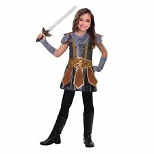 Girls Warrior Cutie Costume Childs Fancy Dress Kids Book Week Roman Gladiator Large (age 7-8 Years)