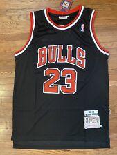 Michael Jordan Chicago Bulls 1997-98 Throwback Black Jersey - Medium Size 44 -