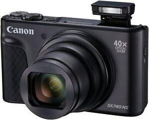Canon Powershot SX740 HS schwarz Digitalkamera 40xZoom 4k 20MP WLAN NEU OVP