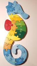 Steckspiel Holz Steckspielzeug Motorik  Puzzle mit Zahlen,  Buchstaben