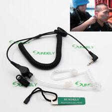 3.5mm Jack Icom Listen Receive Only Acoustic Tube Covert FBI Earpiece Headset