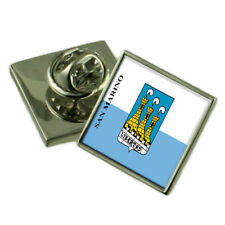 San Marino City San Marino Flag Lapel Pin Engraved Box