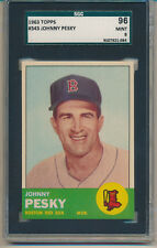 1963 Topps Johnny Pesky (#552) SGC96=(9) SGC