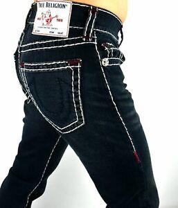 "True Religion $219 Rocco Relaxed Skinny Multi Super T Jeans 32"" Inseam - 105203"