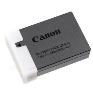 Genuine Original Canon LP-E12 Battery For LC-E12 EOS M M2 M10 M50 M100 100D M200