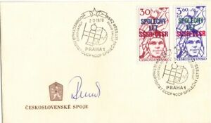 Kosmonaut Sojus 28 Vladimir Remek original auf Ersttagsbrief