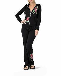 BCBG MAXAZRIA, Floral Print Hoodie & Pant Set BC13695J/P Black