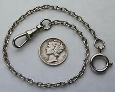 Victorian Style Pocket Watch Chain Small Oval Etched Links 9 Inches USA