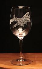 Lancaster Bomber WW2 RAF Aeroplane Aircraft engraved Wine Glass gift present