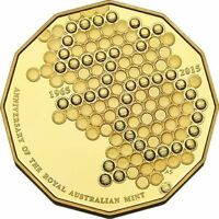 2015 Australian RAM Anniversary 50 cent Proof coin - UNIQUE GOLD PLATED COIN