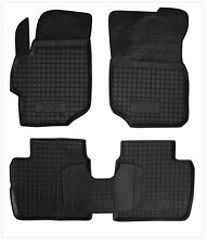 Rubber Car Floor Mats All Weather Alfombras Goma Carmats PEUGEOT 301 2012-