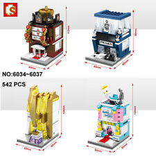 Sembo Street Restaurant Perfume Baby Shop Nano Block Diamond Building Toy 4Pcs