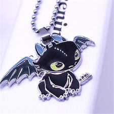 New Toothless Dragon Pendant Necklace Metal Charm Cosplay Jewelry Gift sk