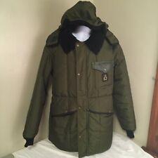 Vtg Refrigiwear Mens Jacket Coat Parka Measures Large OD Green w Hood USA Made