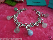 Tiffany & Co. Silver & Multi Dangle Gemstone Fascination Bracelet RARE RETIRED