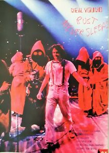 Neil Young promo poster - Rust Never sleeps Live album 1979 reprinted edition