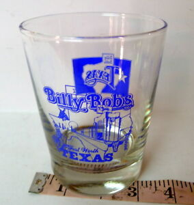 Billy Bob's Texas Highball Glass On the Rock Fort Worth Stockyards