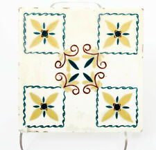 Gladding-McBean Hermosa Yellow and Green Floral Tile