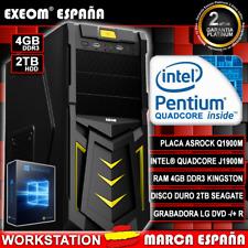 Ordenador Gaming Pc Intel Quad Core 9,6GHz 4GB 2TB HDMI De Sobremesa Windows 10