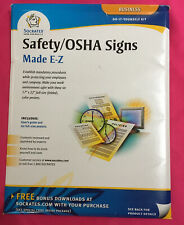 New Socrates Business-Safety/Osha Signs made Ez 2004 Do it yourself kit