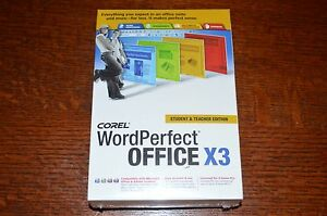 COREL WordPerfect® Office X3 Student & Teacher Edition NEW Shrinkwrapped