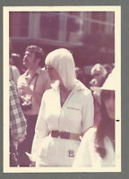 Vintage Color Snapshot Photo SEXY BLONDE DISCO LADY IN THE CROWD FASHION