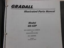 Jlg Gradall G6 42p Telescopic Telehandler Forklift Parts Manual