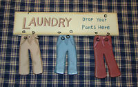 Laundry Room Sign Drop Your PANTS Here Rustic Country