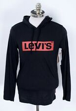 NWT LEVI'S  Black Cotton Classic Fit Lightweight Hoodie Pullover Sweater Shirt S