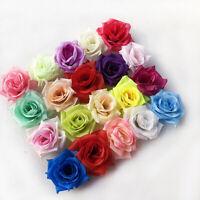 "10/20/30P 2"" Fake Rose Bulk Artificial Silk Flower Head Craft Wedding Home Decor"