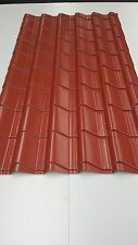 Tile Effect, Polyester Terracotta, (UK Made) Roofing Sheets sheds,buildings
