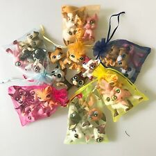 Littlest Pet Shop LPS Surprise Lot -4 Random Dog OR Cat & Accessories Gift Bag