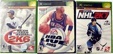 2KSPORTS NHL 2K7, NBA LIVE 2003, Major League Baseball 2K6, Xbox Games Bundle