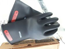 Salisbury Lineman Electrical Rubber Gloves E011b10 Class 0 Low V Black Usa Nib