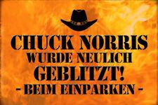 Chuck Norris Spruch 12 Blechschild Schild gewölbt Metal Tin Sign 20 x 30 cm