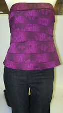 WHITE HOUSE BLACK MARKET sz 10--AMETHYST SNAKE PRINT TIERED BUSTIER-NWT-GORGEOUS