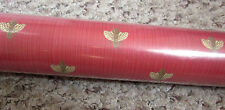 FLY ON THE WALL red wallpaper roll NEW vtg vinyl-coated insect lovers Housefly