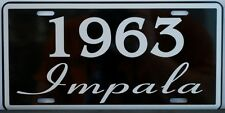1963 63 IMPALA LICENSE PLATE 327 409 CONVERTIBLE CHEVY CHEVROLET SS SUPER SPORT