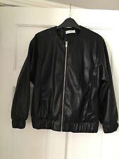 New Black Soft Faux Leather Jacket Size 10