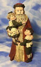 """Le 9"""" Sarah's Attic """"Spirit of Christmas"""" Santa Claus & Children Figurine 1989"""