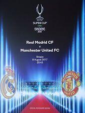 off. Programm UEFA Super Cup 8.8.2017 Real Madrid - Manchester United # Skopje