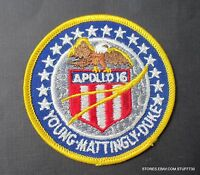 APOLLO 16 YOUNG MATTINGLY DUKE EMBROIDERED PATCH 1972 NASA SPACE EAGLE MOON 3""