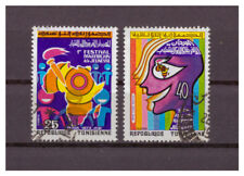 Tunisia, 1. Panafrikanisches Jugendfestival Michel Number 812 - 813, 1973 Used