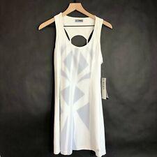 Lija Cut Out Tennis Dress M Optic White Scoop Neck Quick Dry UPF40+ Womens New