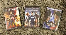 Captain America Trilogy (First Avenger, Winter Soldier, Civil War) 3-DVD Set