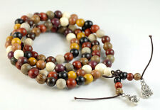 6mm 108PCS Natural Mix Wood Mala Meditation Loose Beads Round 25""