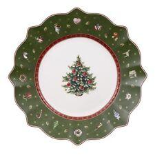 VILLEROY & et Boch Noël TOY'S Délice VERT SALADE / Assiette à dessert 24cm Neuf