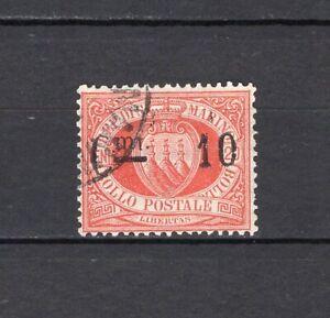 #352 - San Marino - 10 cent sovrastampato, 1892 - Usato
