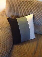"""4 18"""" X 18"""" Crema Gris y Negro Imitación Gamuza Cushion Covers.? por qué comprar de al"""